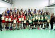 общая фотография победителей и призеров Первенства РТ среди девушек 2002-2003 г.р. группы