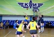 момент игры  женских команд  КФУ и КАИ 3:0