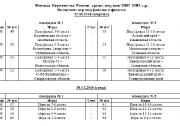 Финал Первенства России Таблицы и расписание Полуфиналы и финалы